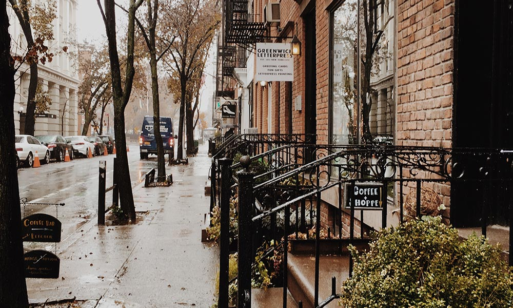 Greenwich Village na Manhattane v New Yorku