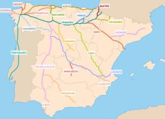 Trasy vedúce do Santiago de Compostela
