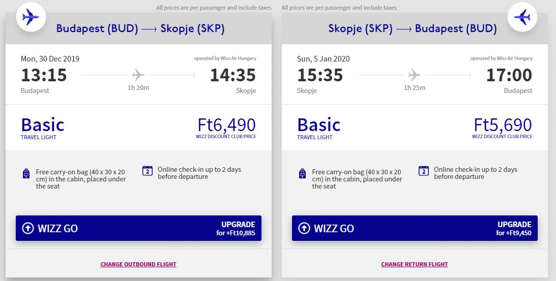 letenky z Budapešti do Skopje