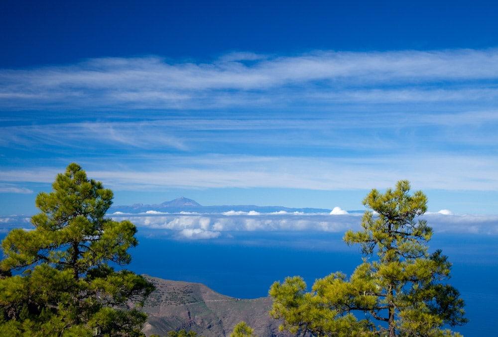 Gran canaria výhľad na Teide