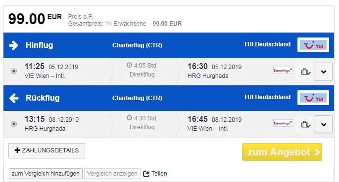 letenky z Viedne do Hurghady