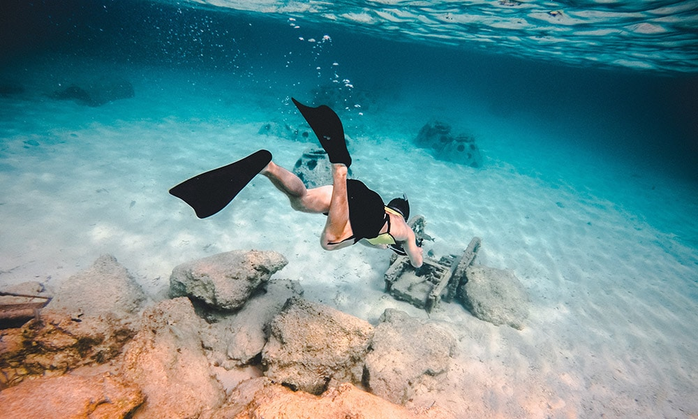 šnorchlovanie na Bahamách