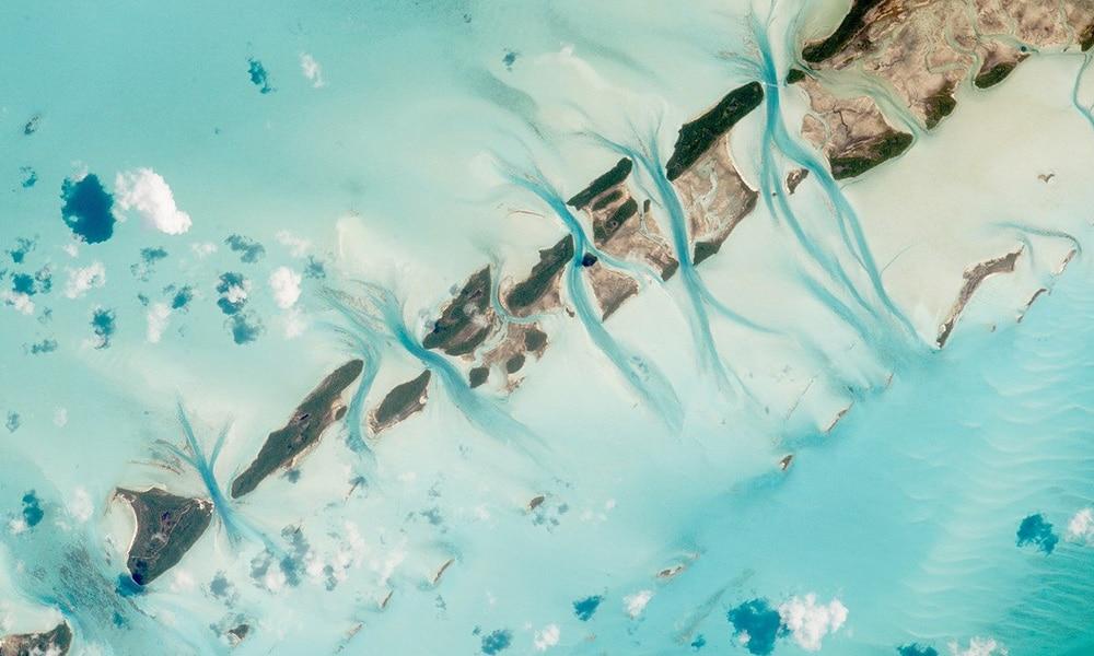 Exuma, Bahamy, pohľad z vesmíru