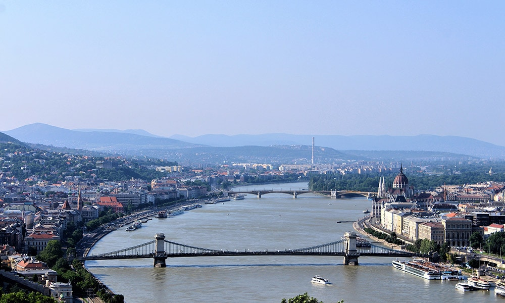 Dunaj, Budapešť