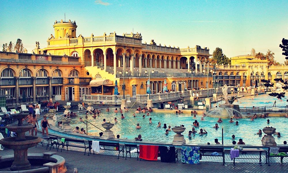 Kúpele Széchenyi v Budapešti