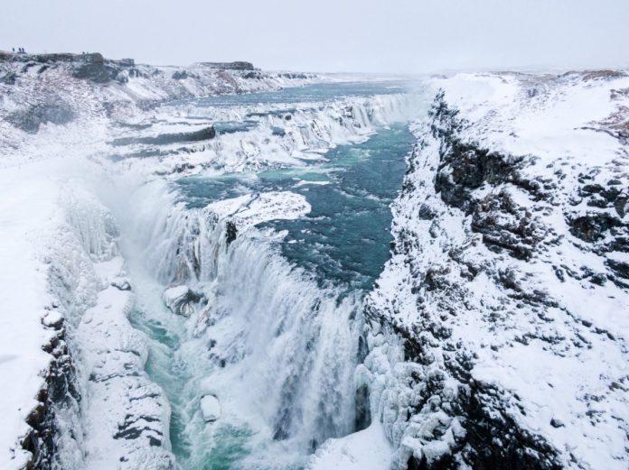 Gullfoss vodopád Island