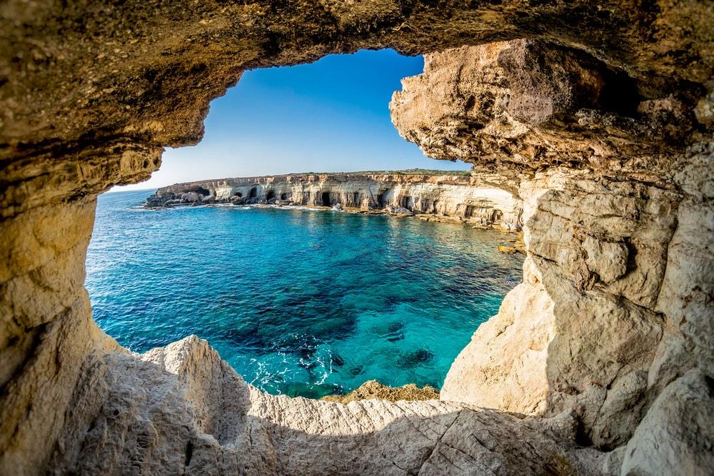 Sea caves Cyprus