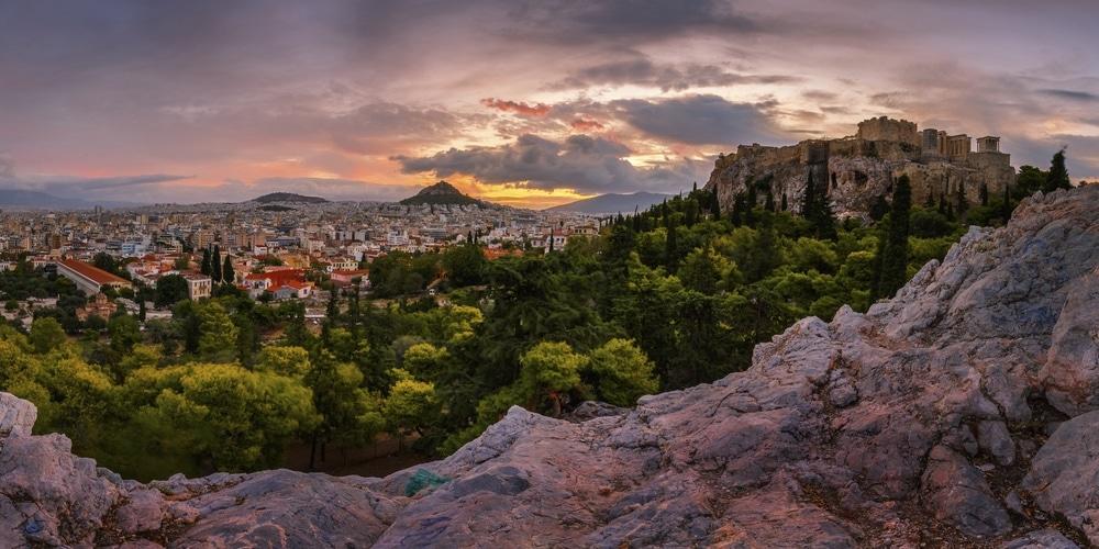 Filopappos Hill Atény
