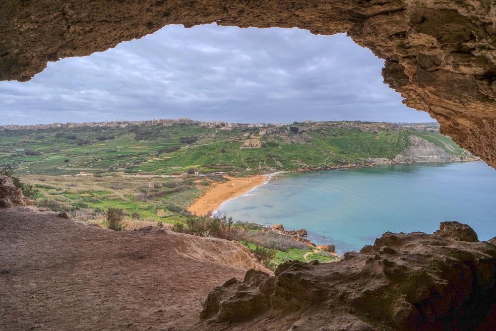 jaskyňa Gozo Malta
