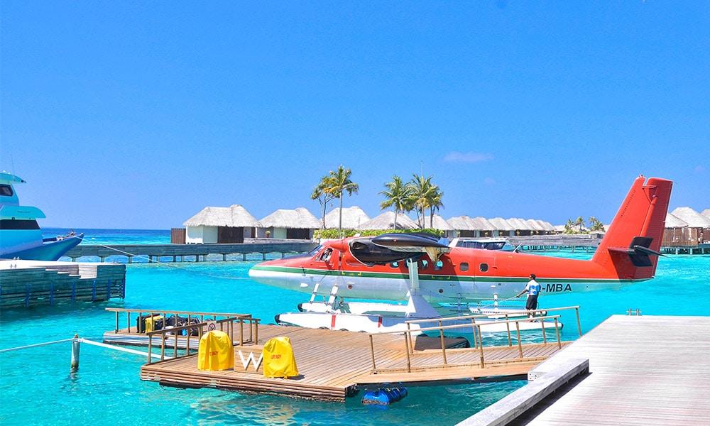 Maldivy, hydroplán