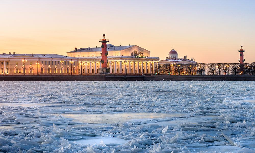 Petrohrad v zime