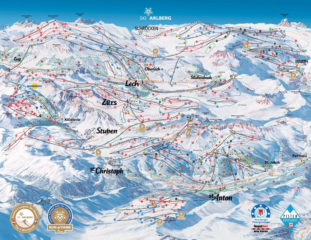 Arlberg Rakúsko