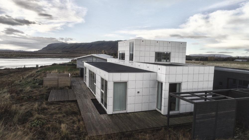 moderný dom na Islande