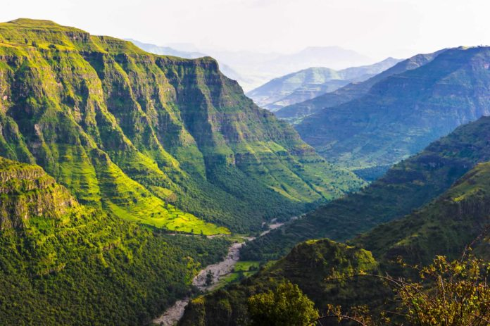 vrchy v Etiópii