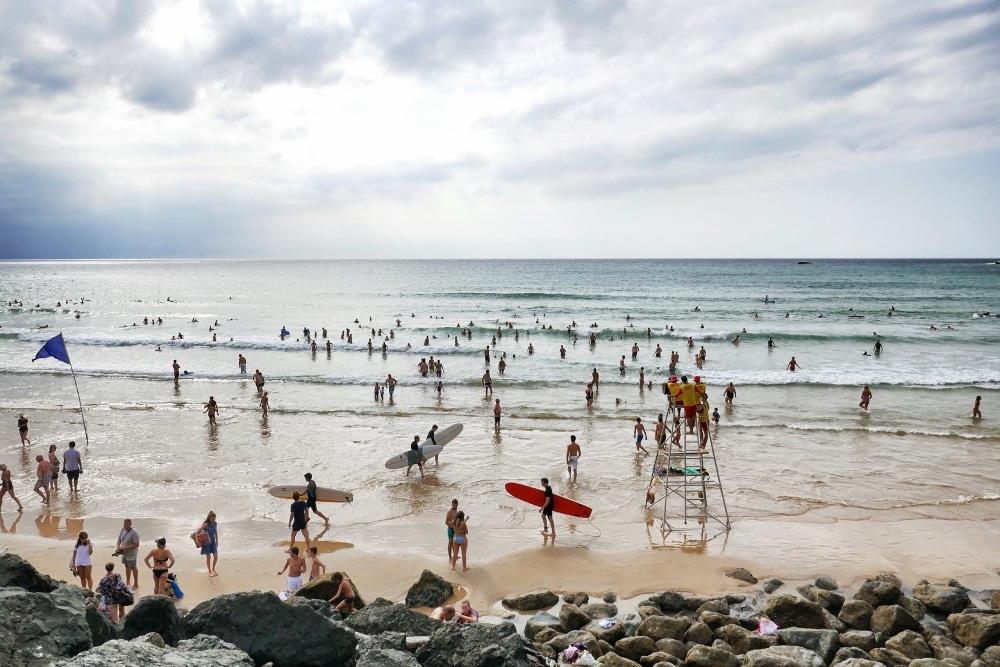 Biarritz pláž