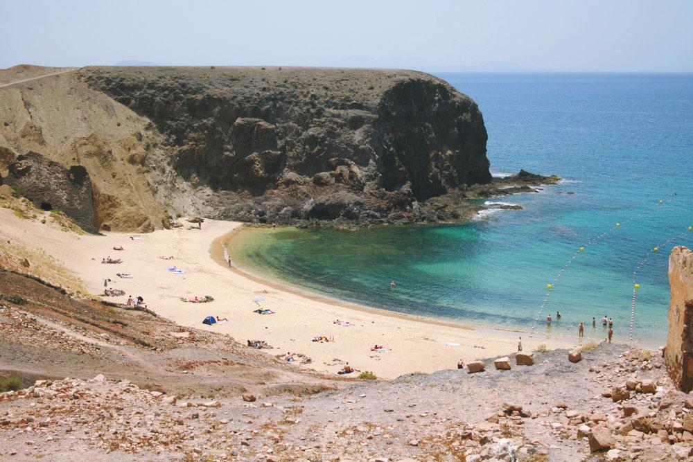 Papagayo pláž Lanzarote