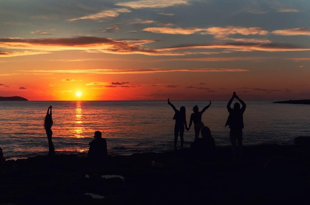 západ slnka Ibiza