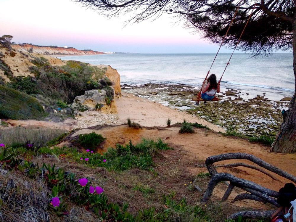 Praia Olhos de Água portugalsko