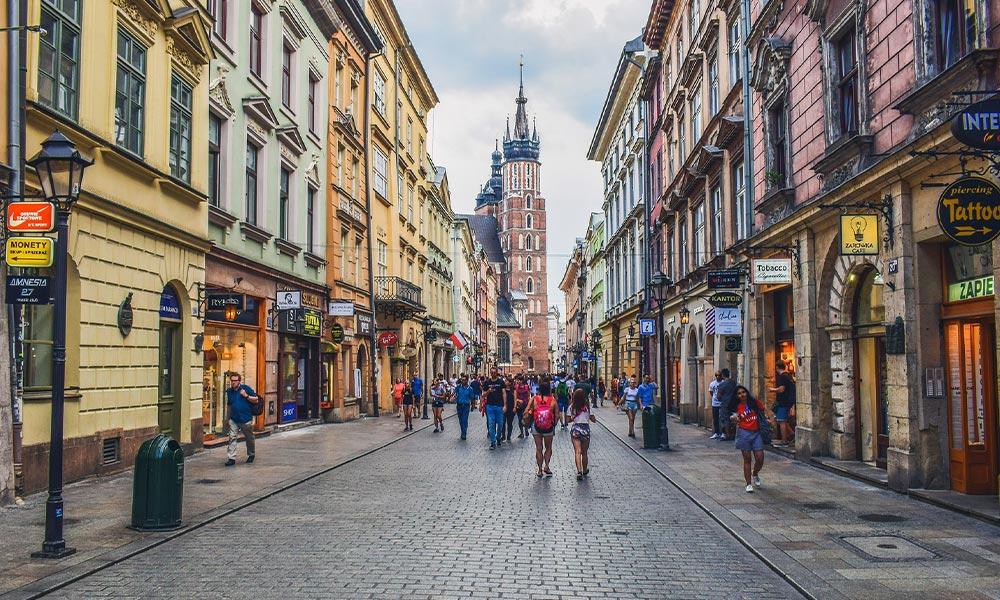 Floriánska ulica v Krakove