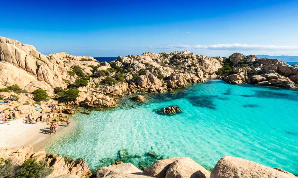 Cala Coticcio, Sardínia