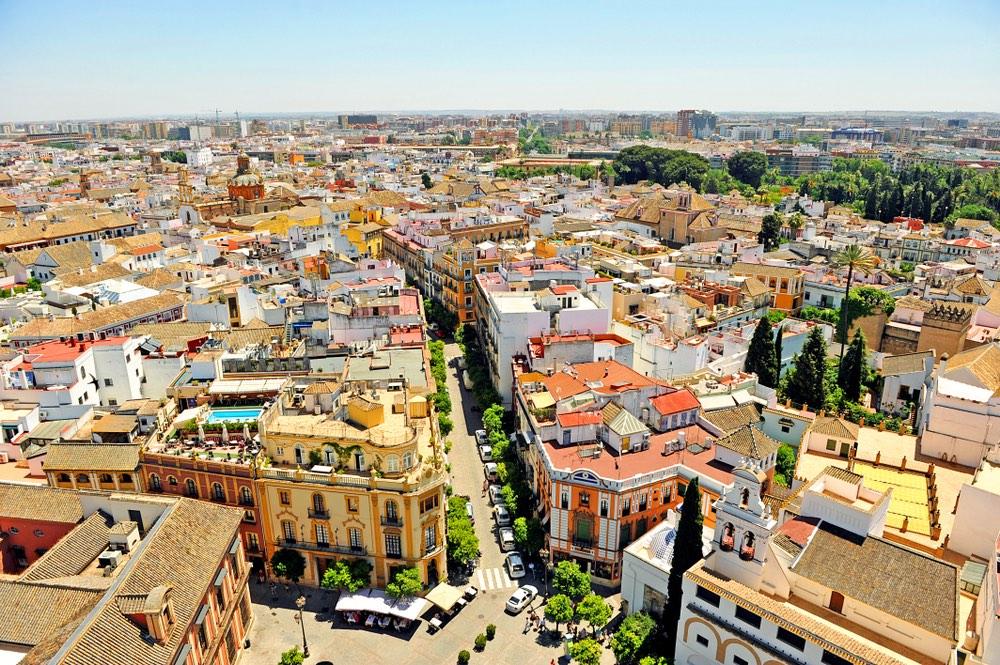 Výhľad z veže Giralda sevilla