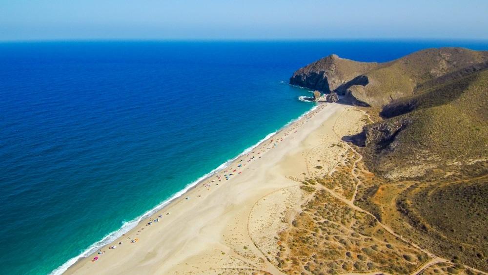 Playa del los Muertos Almería španielsko