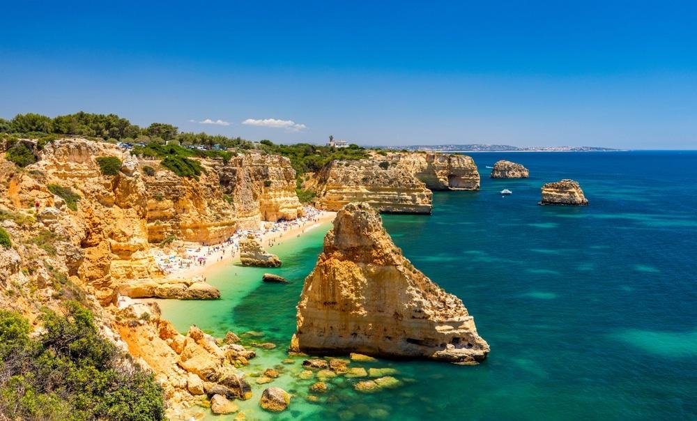 Praia de Marinha portugalsko