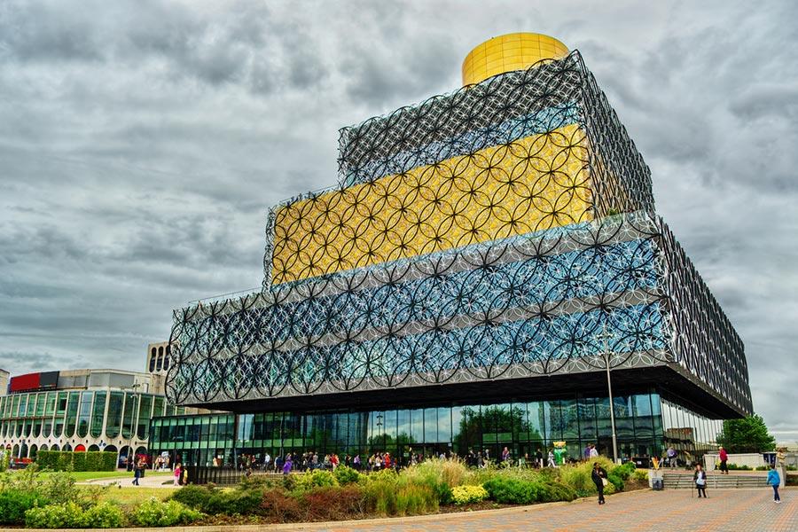 Budova knižnice v Birminghame