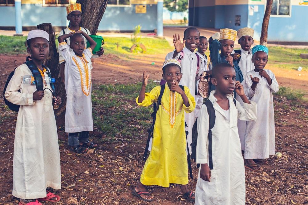 moslimské deti, Kizimzazi, Zanzibar