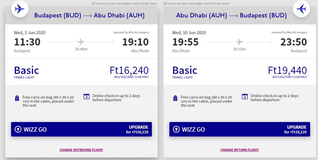 letenky z Budapešti do Abú Dhabí