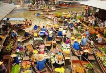 Plávajúce trhy Domnuen Saduak
