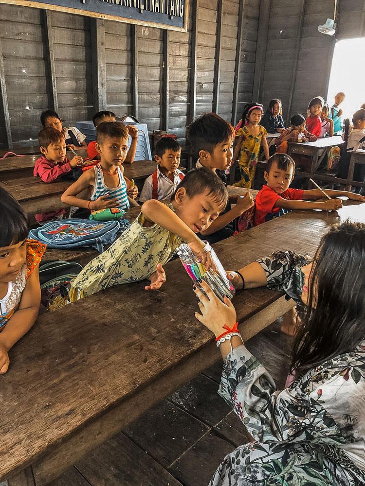 škola v Kambodži
