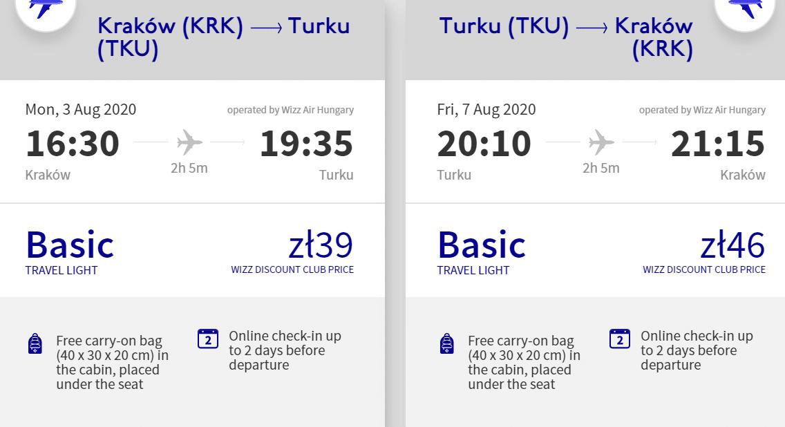 letenky z Krakova do Turku