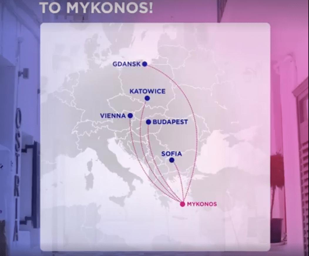 nové linky na Mykonos