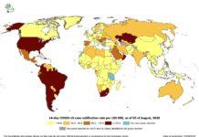 mapa rizikových krajín