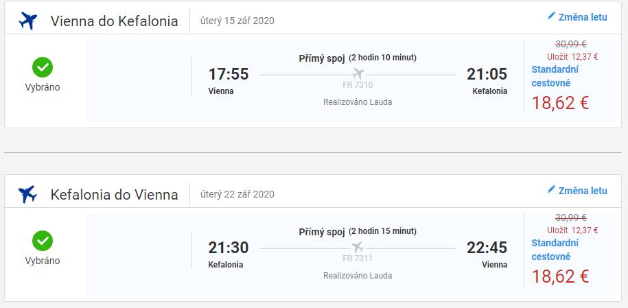 letenky z Viedne do Kefalónie