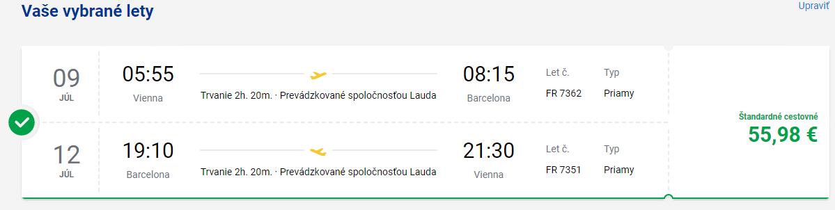viedeň - barcelona