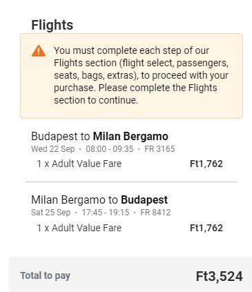 letenky z Budapešti do Milána